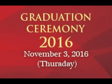 Graduation Ceremony 2016 - Vote of Thanks by Mr. Anthony Jim