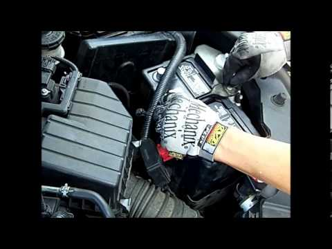 2006 2017 Honda Civic Battery Change Remove And Install Procedure Wear Safety Goggles Gles