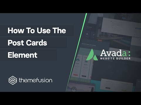 How To Use The Post Cards Element Video