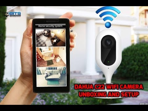 Dahua C22 wifi camera unboxing and setup