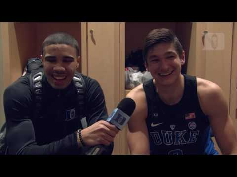 DBP: Grayson Allen with Jayson Tatum after the UNLV win