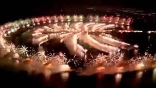 New Year celebrations in Dubai Palm Jumeirah Island 2014
