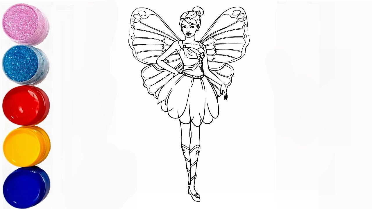 Fairy Coloring Pages Super Easy Fairy Colring Pages Youtube