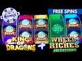 RARE 7 Symbol Trigger + Progressive WIN! Aruze Reel Slots - King of Dragons🐉 & Wheel of Riches 💰!