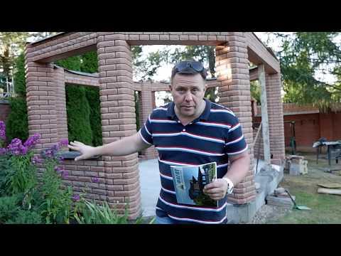 Беседка из кирпича ФАГОТ фактуры ЛУЧ и ФИНСКИЙ кирпич-фагот.рф