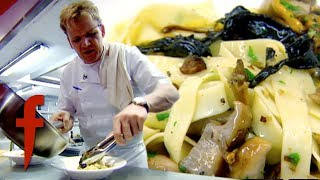 Gordon Ramsay Shows How To Make Fresh Pasta for Tagliatelle and Wild Mushrooms | The F Word
