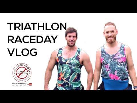Triathlon raceday vlog with race footage - Steve Kalclash Fitness triathlon blog
