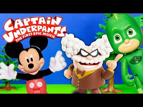 CAPTAIN UNDERPANTS Dreamworks Professor Poopypants Steals Laughter Zaps Mickey Mouse + Gekko PJ Mask