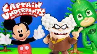 CAPTAIN UNDERPANTS Dreamworks Professor Poopypants Steals Laughter Zaps Mickey Mouse + Gekko PJ Mask