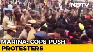 Jallikattu Protesters At Chennai's Marina Beach Being Evicted By Police