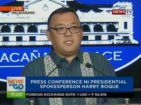 NTG: Press conference ni Presidential Spokesperson Harry Roque