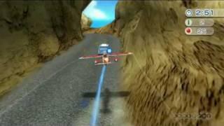 wii sports resort aerial stunt flying gameplay movie