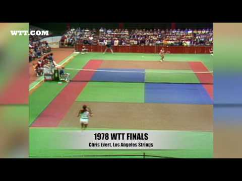 Chris Evert Nails Running Forehand In 1978 WTT Finals