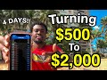 HOW TO TURN $500 to $2,000 IN 4 DAYS TRADING FOREX (2020 ...