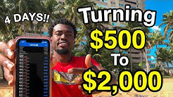 HOW TO TURN $500 to $2,000 IN 4 DAYS TRADING FOREX  (2020)