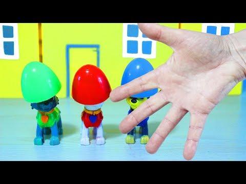 Щенячий Патруль Песенка про Пальчики Учим цвета с командой Щенячего Патруля Развивающее для детей
