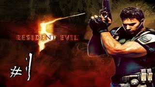 1080p - Resident Evil 5 Walkthrough / Gameplay with LazyCanuckk Part 1 - Teaching Jason How to Play