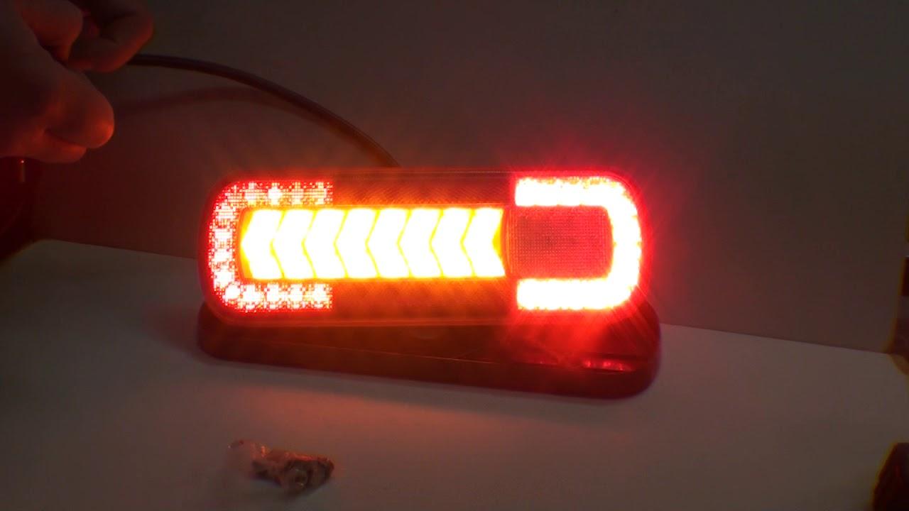 Dynamiczny Kierunkowskaz L1830 Lampa Tylna Zespolona Led 1224v Przyczepa Naczepa Tir