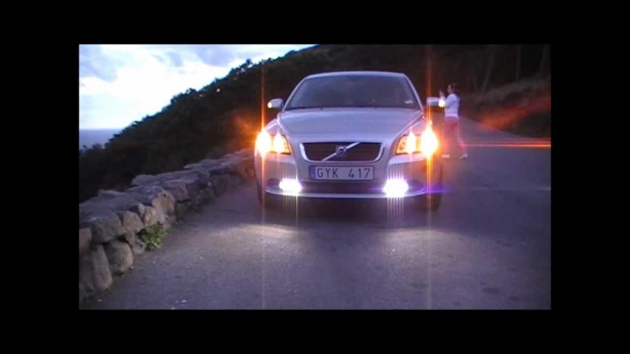 LED-Daytime running on volvo s40n - YouTube