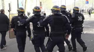 Débordements lors de l'hommage à Shaoyo Liu. Paris/France - 02 Avril 2017