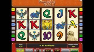 Видео-обзор игрового автомата Pharaons Gold (Золото Фараона) от производителя Novomatic