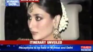 Saifeena's royal wedding Itinerary unveiledزفاف سيف على خان و كارينا كابور