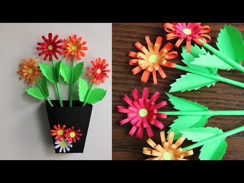 Paper Flower Wall Decoration - DIY Wall Decor ideas - Paper Craft - Paper Flower