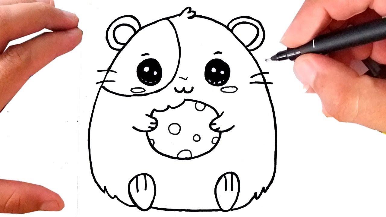 Como Desenhar Um Hamster Kawaii Youtube