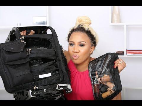 WHAT'S  IN MY FREELANCE MAKEUP KIT /BAG/NIGERIAN WEDDINGS/ZUCA BAG