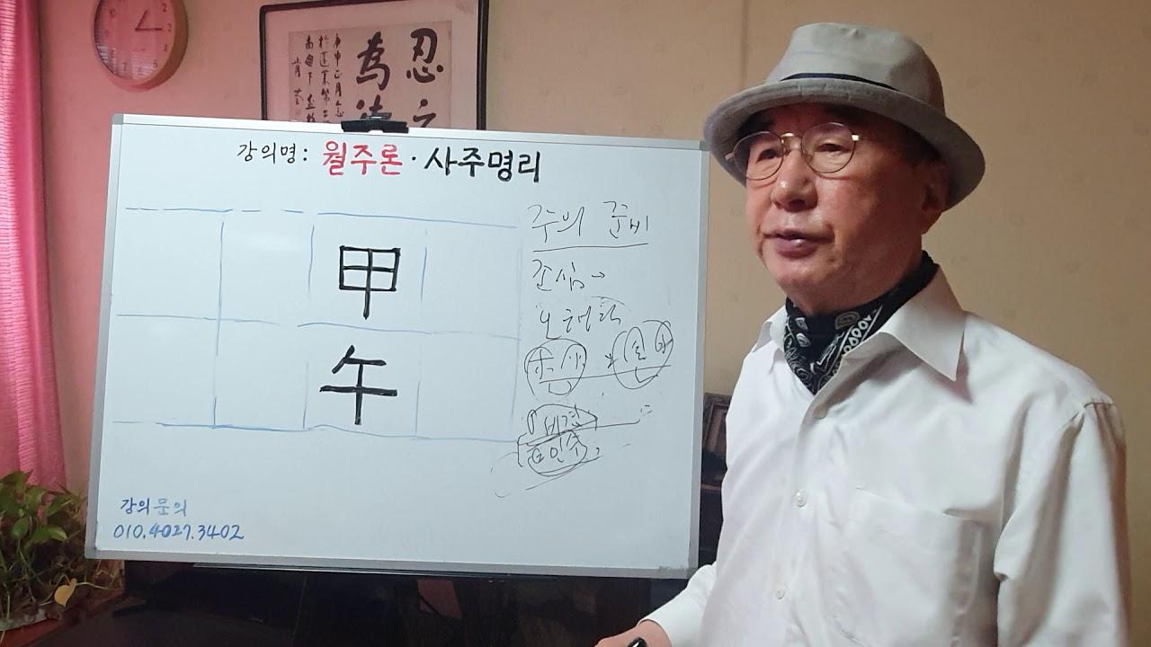 사주팔자 - 갑오 - 월주론 - 정현우교수