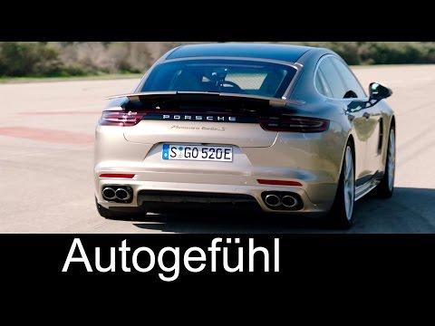 Porsche Panamera Turbo S Hybrid V8 Preview Sound Launch Control Acceleration 0-200 km/h 125 mph