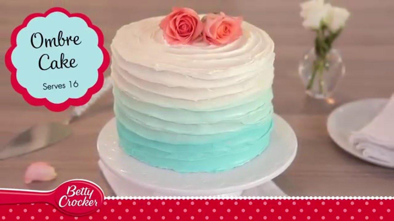 Ombre Icing Cake Recipe