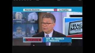 Sen. Franken's Talks about the Medical Loss Ratio with Rachel Maddow
