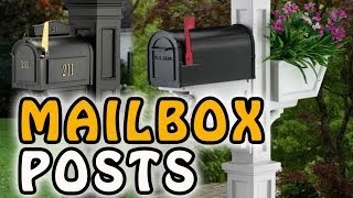 Easy Decorative Mailbox Posts - Low Cost Mailbox Covers Here