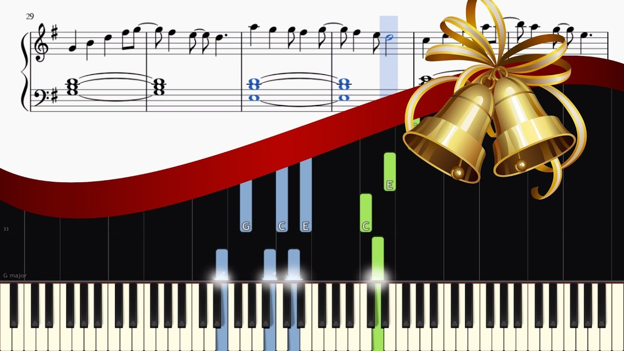 All I Want For Christmas Is You Piano Sheet Music With Letters.All I Want For Christmas Is You Relaxing Piano Version Easy Tutorial Sheets