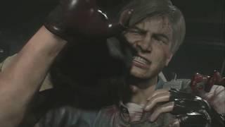 Resident Evil 2 惡靈古堡2 拿著 武士之刃  解 公仔任務 里昂 里篇
