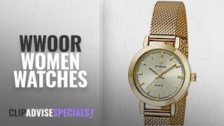 10 Best Selling WWOOR Women Watches [2018 ]: WWOOR Women's Quartz Dress Watches Waterproof Stainless