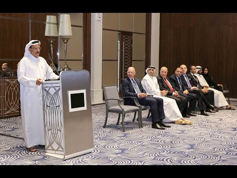 Khalaf Al Habtoor addresses staff from The Hotel Collection at Al Habtoor City