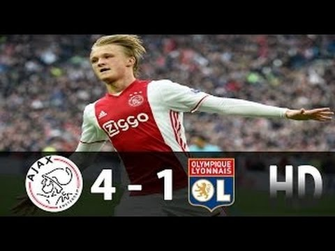 Ajax vs Lyon 4 - 1 All Goals & Highlights. Europa League. Semi Final 2017 HD