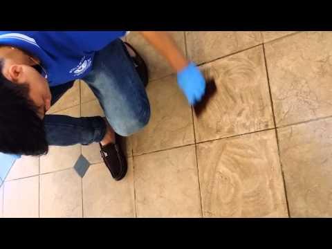 "Using ""PURGE"" to remove  Stubborn Stain on Floor"