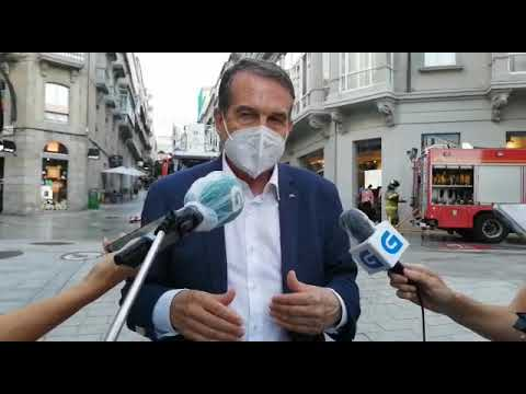 El alcalde Vigo informa sobre el incendio en la sede del Celta