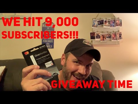 We Hit 9k Subscribers So It's Giveaway Time