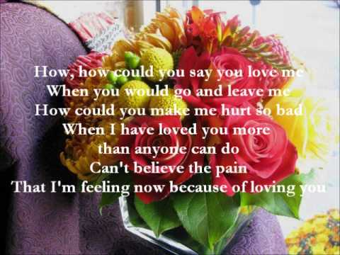 How Could You Say You Love Me By Sarah Geronimo With Lyrics Youtube