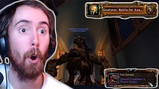 Asmongold Gets Gladiator And Shows Off The Gladiator Mount!