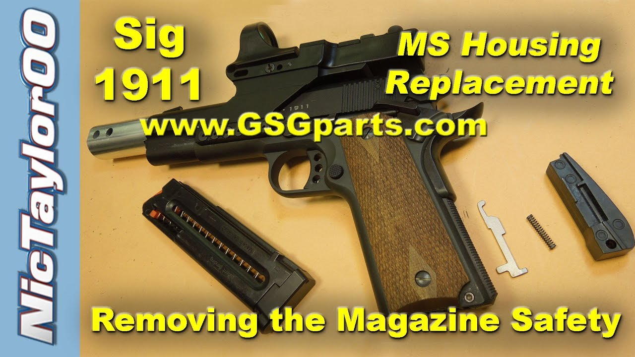 1911 ATI / GSG / Sig Sauer 22 LR Magazine Safety Removal & Mainspring  Housing Replacement