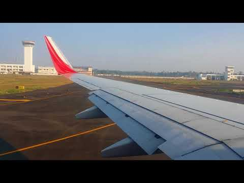 HARD TAKE OFF IX - 411 AIR INDIA EXPRESS from Kochin to Sharjah international airport... time 8 am .