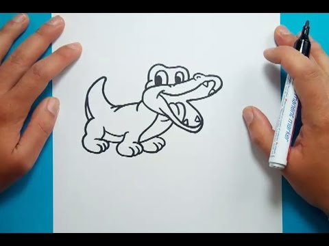 Como dibujar un cocodrilo paso a paso | How to draw a crocodile ...