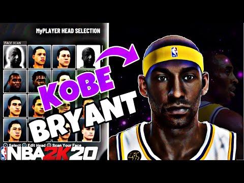 KOBE BRYANT FACE CREATION TUTORIAL!!!!// NBA 2k20