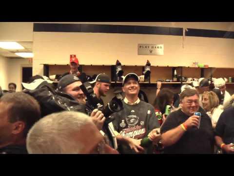 Chicago Blackhawks celebrate 2010 Stanley Cup Championship