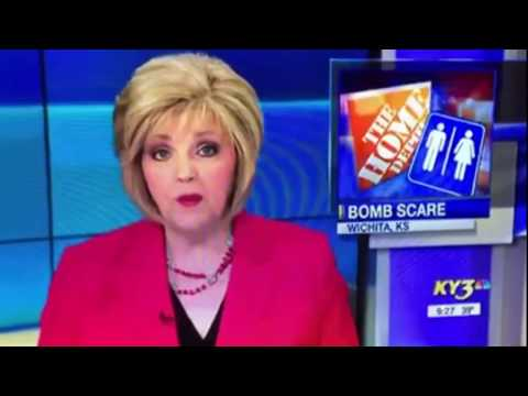 Kathi Yeager - News Anchor Looses It After Reading A Bomb Story